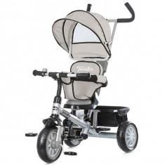 Tricicleta cu copertina si sezut reversibil Chipolino Twister grey - Tricicleta copii