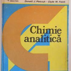 CHIMIE ANALITICA de DONALD J. PIETRZYK, CLYDE W. FRANK, 1989 - Carte Chimie