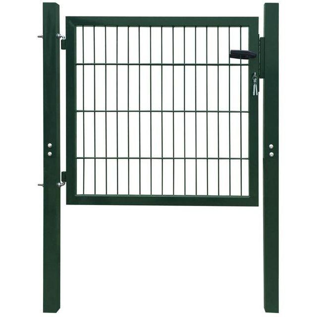 Poarta 2D pentru ?arc, 106 x 150 cm, verde foto mare