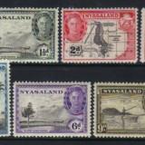 Nyasaland 1945 colonii regele George VI - nestampilate MH