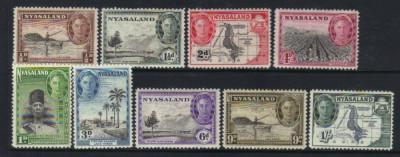 Nyasaland 1945 colonii regele George VI - nestampilate MH foto