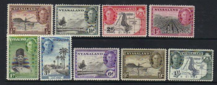 Nyasaland 1945 colonii regele George VI - nestampilate MH foto mare