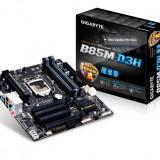 Placa de baza GIGABYTE Socket 1150, B85M-D3H, INTEL B85, 4* DDR3 1600/1333, VGA/DVI/HDMI, 1*PCIEx3.0/1*PCIEx16(max. x4)/2*PCI, 4*SATA3, 2 bulk, Pentru INTEL, LGA 1150, MicroATX