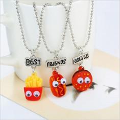 Medalion / Pandantiv / Colier / Lantisor -  SET 3 BEST FRIENDS - McDonald's