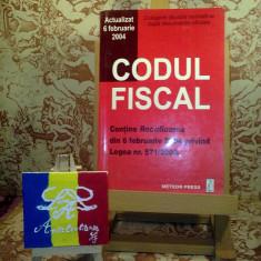 """Codul fiscal Actualizat 6 februarie 2004 """"A2980"""""""