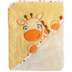 Prosop cu capison 76x76 cm - Bobobaby - Girafa Crem - Prosop baie copii