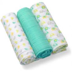 Scutece textile pentru bebelusi 3 buc - BabyOno - Turcoaz - Scutece unica folosinta copii