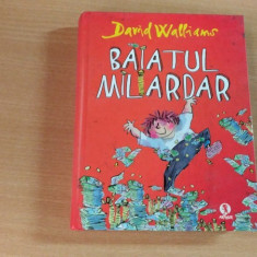 BAIATUL MILIARDAR-DAVID WALLIAMS - Carte personalizata