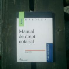 Manual de drept notarial - Ioan Les