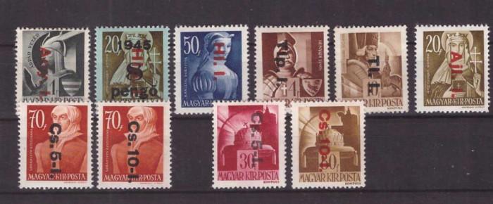 Ungaria 1946 - Supratipar, serie nestampilata foto mare