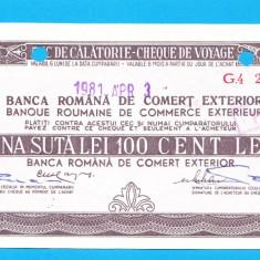 Bon 100 lei Cec de Calatorie Cheque de Voyage 8 - Bancnota romaneasca