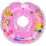 Colac de gat pentru bebelusi - SwimBee - Roz - Colac plaja