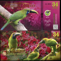 ATLANTIC FOREST- 34 AVES 2017- UNC!!