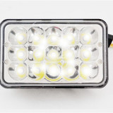 Proiector LED Auto Offroad 45W 12V-24V 3300 Lumeni Dreptunghiular si Flood Beam, Universal