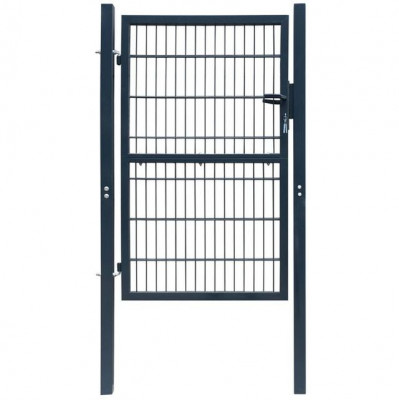 Poartă 2D pentru gard (simplă) 106 x 190 cm, gri antracit foto