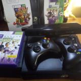 Xbox 360 Microsoft Slim, 4GB MODATA pe Hard si DVD-writer+kinect+2 controllere+2 harduri