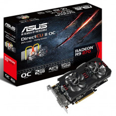 Placa video ASUS AMD R9270-DC2OC-2GD5, R9 270, PCI-E, 2048MB GDDR5, 256 bit, GPU Boost Clock : 975 MHz, 5600 MHz, 2*DVI, HDMI, DP, OC, DirectCU bulk