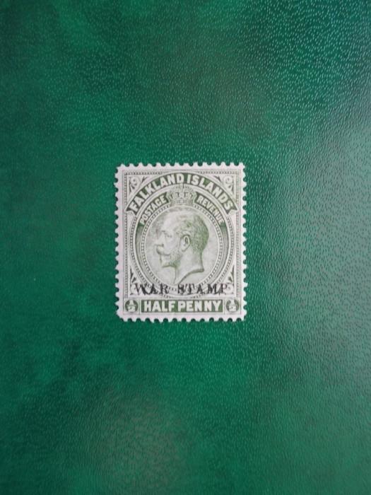 Falkland Isl. 1918 colonii  George V supratipar - nestampilat MNH foto mare