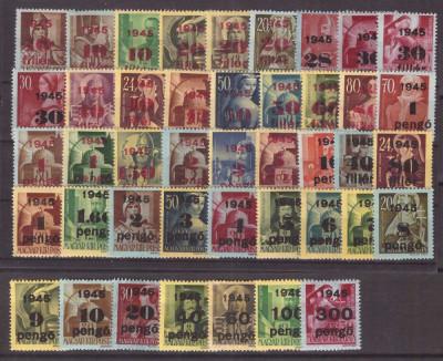 Ungaria 195 -Supratipar, valori noi, set nestampilat foto