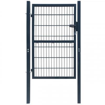 Poartă 2D pentru gard (simplă), 106 x 250 cm, gri antracit foto
