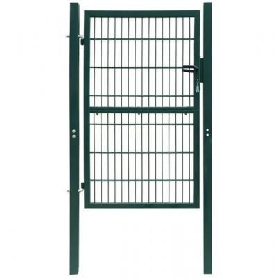 Poarta 2D pentru gard (simpla) 106 x 210 cm, verde foto