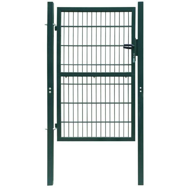 Poarta 2D pentru gard (simpla) 106 x 210 cm, verde foto mare