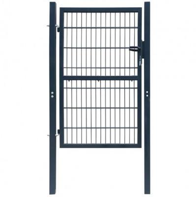 Poartă 2D pentru gard (simplă) 106 x 170 cm, gri antracit foto