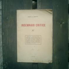 Insemnari critice - Const. V. Gerota