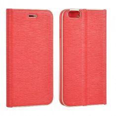 Husa Samsung Galaxy J3 2016 Flip Case Slim Inchidere Magnetica Rosie