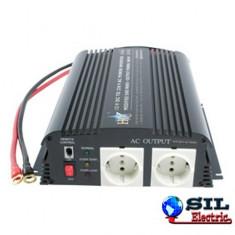 Invertor de tensiune 12V-230V, 1000W, HQ
