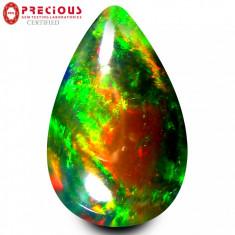 * Piatra naturala Opal - negru - 2.36 ct - certificat
