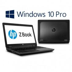 Laptop Refurbished HP ZBook 15, i7-4800MQ Gen 4, SSD, Win 10 Pro