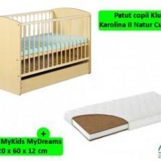 Patut copii cu sertar KLUPS Karolina II+Saltea 12cm