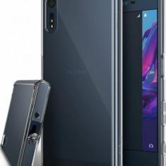 Husa Protectie Spate Ringke Fusion Clear plus folie protectie display pentru Sony Xperia XZ