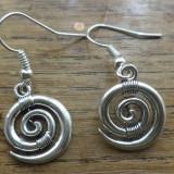 Cercei argintii spirale