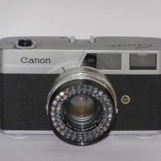 Canon Canonet 45mm F1.9 - Japan 1961 - Transport gratuit prin posta! - Aparat Foto cu Film Canon