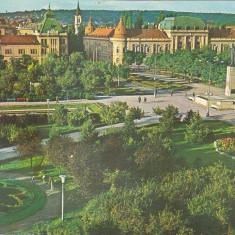 Bnk cp Oradea - Piata 23 August - circulata - marca fixa - Carte Postala Crisana dupa 1918, Printata