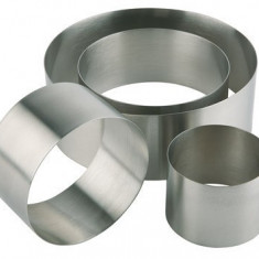 Forma inox rotunda (mousse), Ø 12 x H 4.5 cm