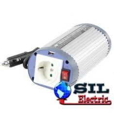 Invertor de tensiune 24V-230V,150W,iesire USB 5V,HQ
