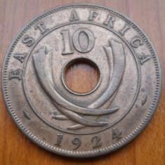 AFRICA DE EST 10 CENTS 1924 KM 19, Bronz