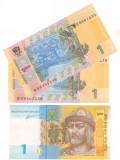 SV * Ucraina  LOT  2 x 1  HRYVNA  /  GRIVNA  2011     UNC