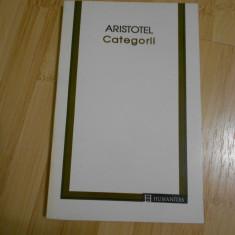 ARISTOTEL--CATEGORII