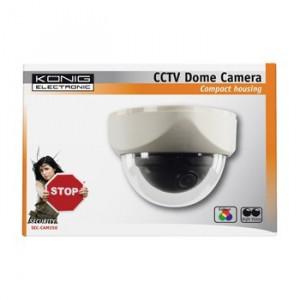 Camera securitate dome 1.3CCD Sony 420 linii TV alb, Konig