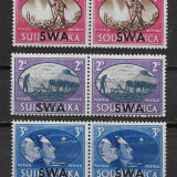 SWA 1945 colonii regele George VI supratipar - serie nestampilata MH