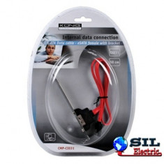 Cablu de date SATA tata ESATA mama montabil pe Placa de baza 1m Konig
