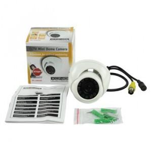 Camera supraveghere mini dome, CCTV, alb, Konig