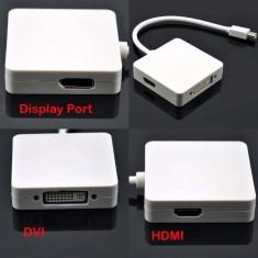 Adaptor 3 in 1 Thunderbolt Mini display port to DVI HDMI Display Port