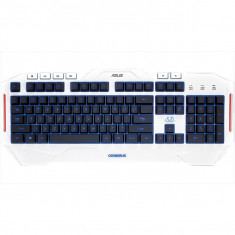 Tastatura Gaming Asus Cerberus Artic White, Cu fir, USB