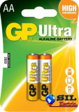 Baterie ultra-alcalina GP AA (R6) 2 buc/blister, G&P