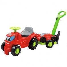 Mini Tractor cu Platforma si Masina de Tuns Iarba - Jucarie nisip Ecoiffier